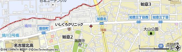 やきとり家美濃路如意店周辺の地図