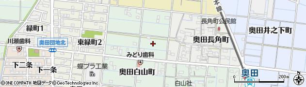 愛知県稲沢市奥田白山町周辺の地図