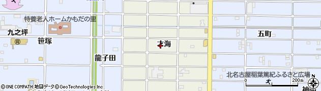 愛知県北名古屋市鹿田(才海)周辺の地図