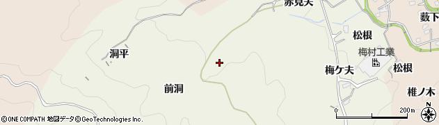 愛知県豊田市石畳町(前洞)周辺の地図