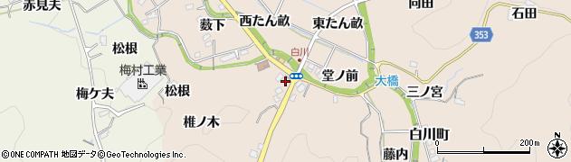 愛知県豊田市白川町(引地)周辺の地図