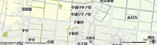 愛知県稲沢市祖父江町島本(子新田)周辺の地図