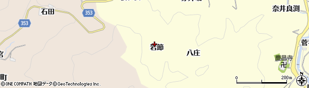 愛知県豊田市三箇町(岩節)周辺の地図