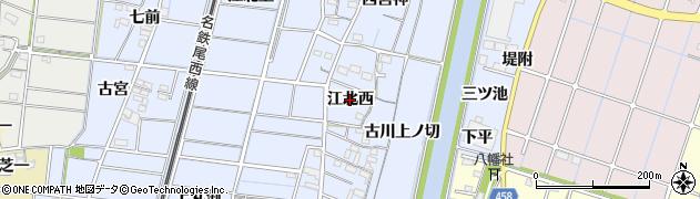 愛知県稲沢市祖父江町三丸渕(江北西)周辺の地図