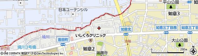 愛知県名古屋市北区苗田町周辺の地図
