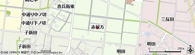 愛知県稲沢市祖父江町両寺内(赤目方)周辺の地図