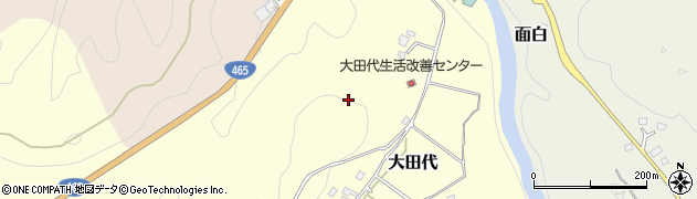 千葉県大多喜町(夷隅郡)大田代周辺の地図