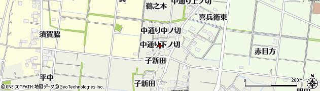愛知県稲沢市祖父江町島本(中通り下ノ切)周辺の地図