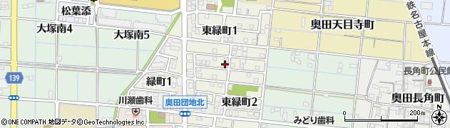 愛知県稲沢市東緑町周辺の地図