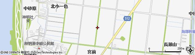愛知県稲沢市祖父江町神明津周辺の地図