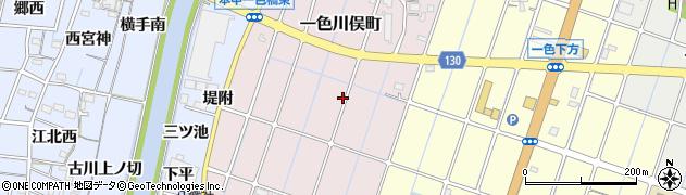 愛知県稲沢市一色川俣町周辺の地図