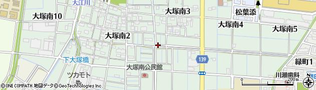 愛知県稲沢市大塚南周辺の地図