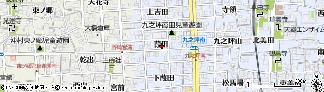 愛知県北名古屋市九之坪(葭田)周辺の地図