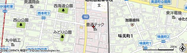 愛知県春日井市味美西本町周辺の地図