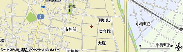 愛知県稲沢市矢合町周辺の地図
