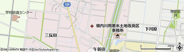 愛知県稲沢市祖父江町大牧(砂田)周辺の地図