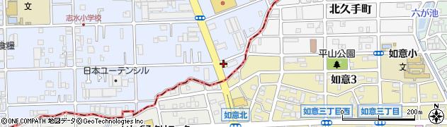 ぼく亭周辺の地図