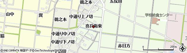 愛知県稲沢市祖父江町両寺内(喜兵衛東)周辺の地図