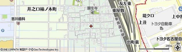 愛知県稲沢市井之口本町周辺の地図