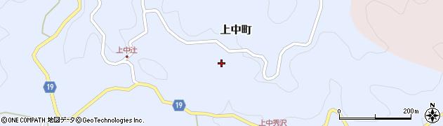 愛知県豊田市上中町周辺の地図