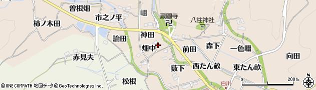 愛知県豊田市白川町(畑中)周辺の地図