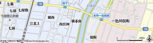 愛知県稲沢市祖父江町本甲(横手南)周辺の地図