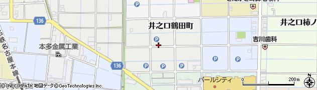 愛知県稲沢市井之口鶴田町周辺の地図