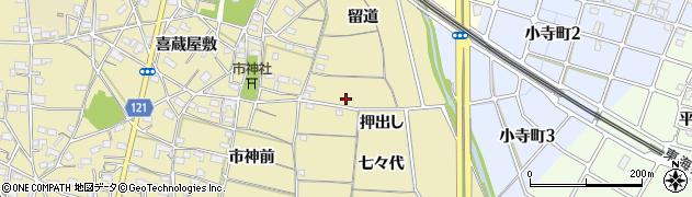 愛知県稲沢市矢合町(押出し)周辺の地図