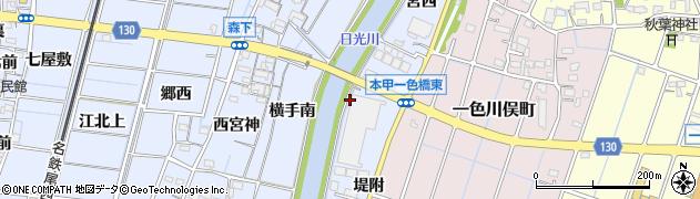 愛知県稲沢市片原一色町(上三ツ池)周辺の地図