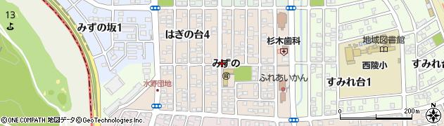 愛知県瀬戸市はぎの台周辺の地図