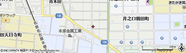 愛知県稲沢市長束町(上福寺)周辺の地図