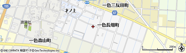 愛知県稲沢市一色長畑町周辺の地図