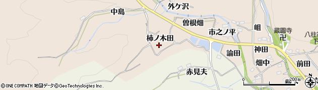 愛知県豊田市西市野々町(柿ノ木田)周辺の地図
