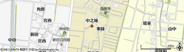 愛知県稲沢市祖父江町西鵜之本(鵜之森)周辺の地図