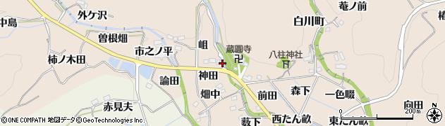 愛知県豊田市白川町(神田)周辺の地図