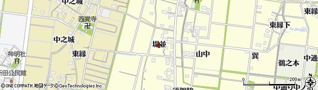 愛知県稲沢市祖父江町野田(堤並)周辺の地図