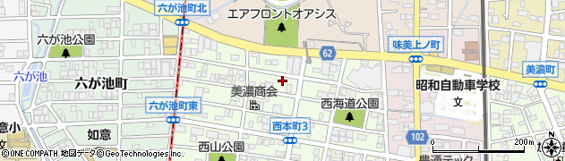 愛知県春日井市上ノ町周辺の地図