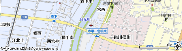 愛知県稲沢市片原一色町(大松下)周辺の地図