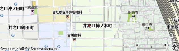愛知県稲沢市井之口柿ノ木町周辺の地図