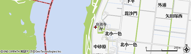 愛知県稲沢市祖父江町神明津(南堤外)周辺の地図