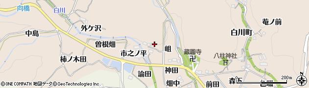 愛知県豊田市白川町(岨)周辺の地図