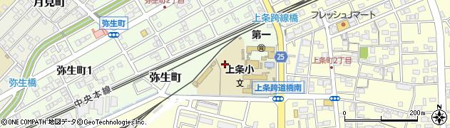 愛知県春日井市弥生町周辺の地図