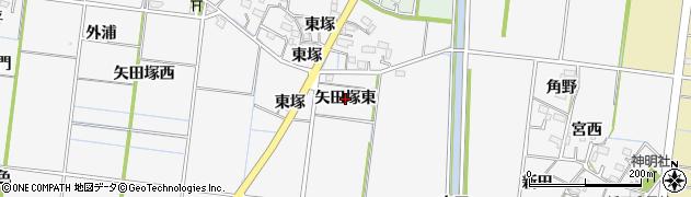 愛知県稲沢市祖父江町神明津(矢田塚東)周辺の地図