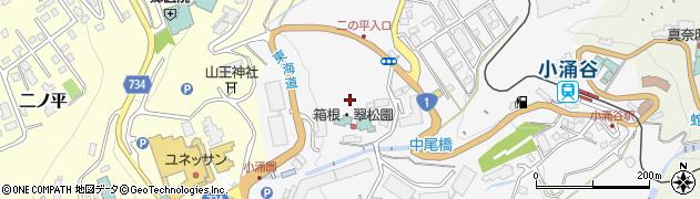 神奈川県箱根町(足柄下郡)小涌谷周辺の地図