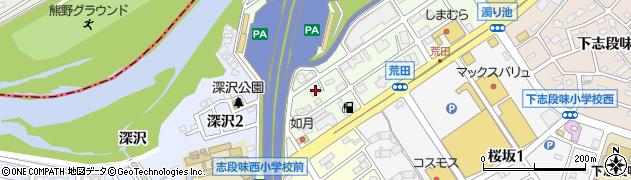 愛知県名古屋市守山区下志段味(上東禅寺)周辺の地図