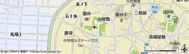 愛知県稲沢市矢合町(山屋敷)周辺の地図