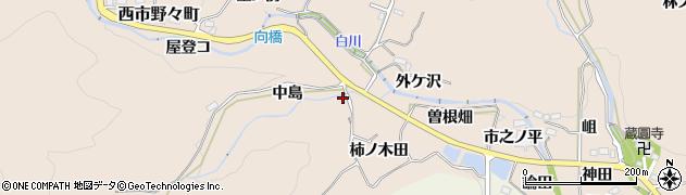 愛知県豊田市西市野々町(中島)周辺の地図