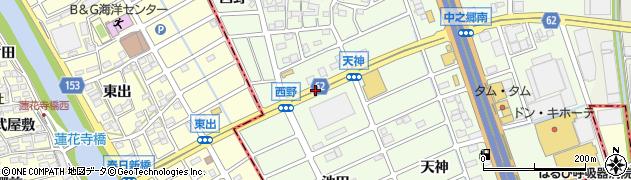 愛知県北名古屋市中之郷(左義長場)周辺の地図