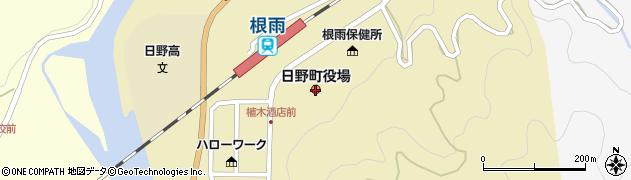 鳥取県日野町(日野郡)周辺の地図