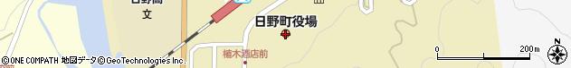 鳥取県日野郡日野町周辺の地図